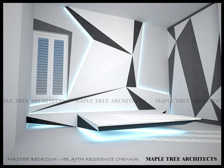 MASTER BEDROOM Modern style bedroom by MAPLE TREE Modern