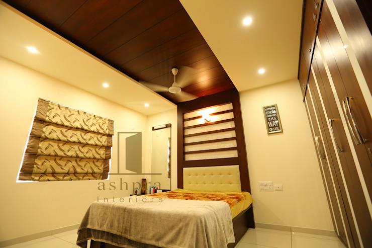Bedroom 1b: asian  by Ashpra interiors,Asian