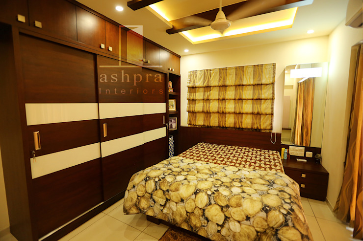 Bedroom 2: asian  by Ashpra interiors,Asian