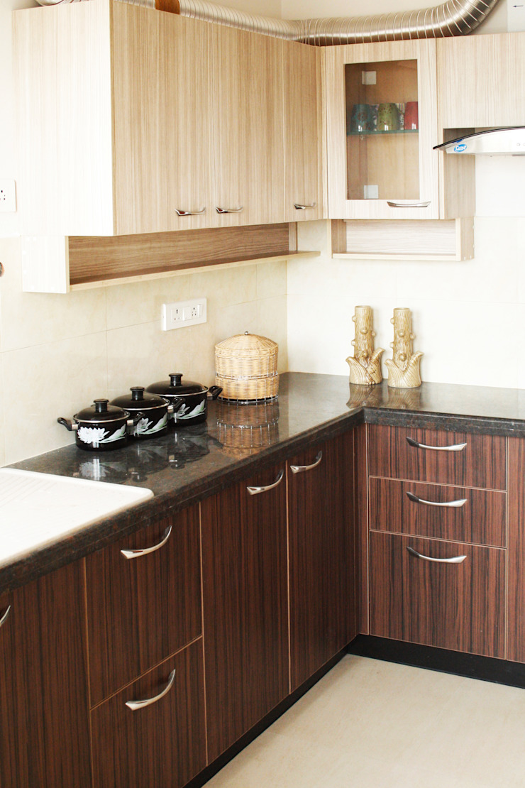 Ashpra interiors KitchenBench tops Kayu Lapis Brown