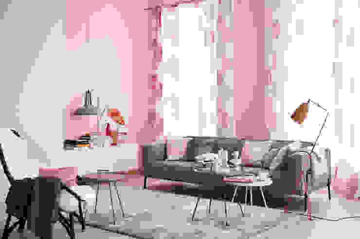 现代客厅設計點子、靈感 & 圖片 根據 SCHÖNER WOHNEN-FARBE 現代風