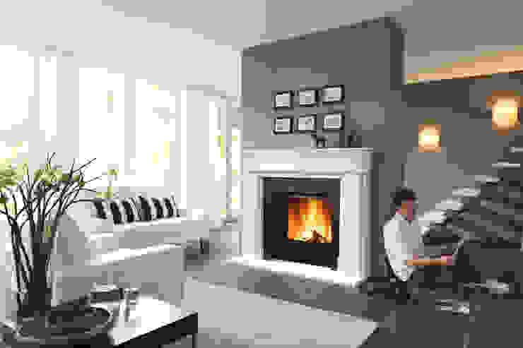klassischer Stilkamin wohnfeuer Klassische Wohnzimmer Stein
