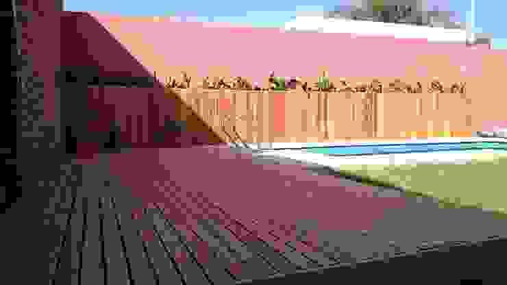 Casa Jardín Piletas modernas: Ideas, imágenes y decoración de Lucas Rubio Arquitecto Moderno