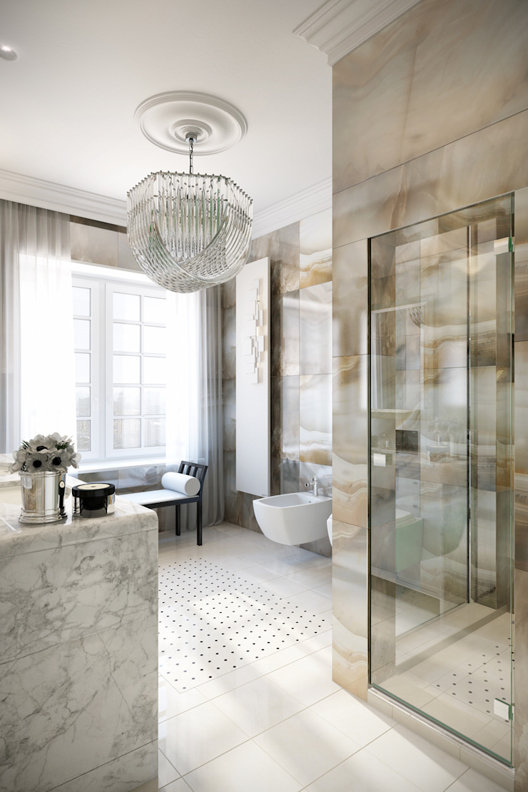 Baños de estilo clásico de Александра Клямурис Clásico