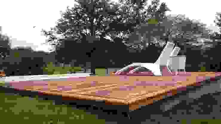 Revestimientos de madera - By De la Roza: Piletas de estilo  por de la Roza Maderas,Moderno