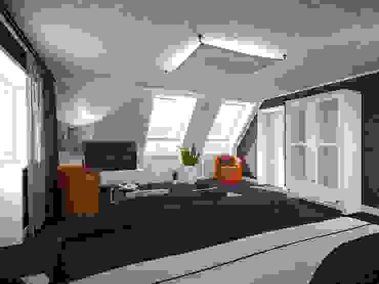 Cuartos de estilo moderno de Sébastien Halimi architecte d'intérieur Moderno