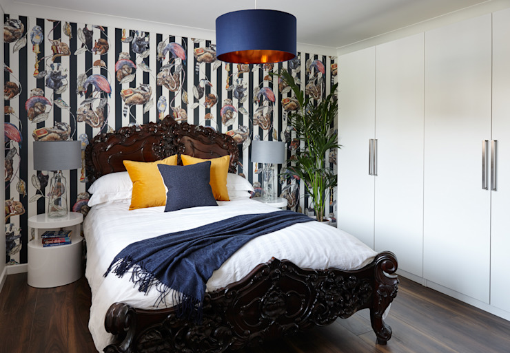 Virginia Water Apartment - Surrey Modern style bedroom by Bhavin Taylor Design Modern
