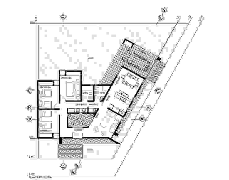 VIVIENDA HEREDIA-CHÁVEZ Casas modernas: Ideas, imágenes y decoración de Arquitecto Juan Nicolás Bobba Moderno