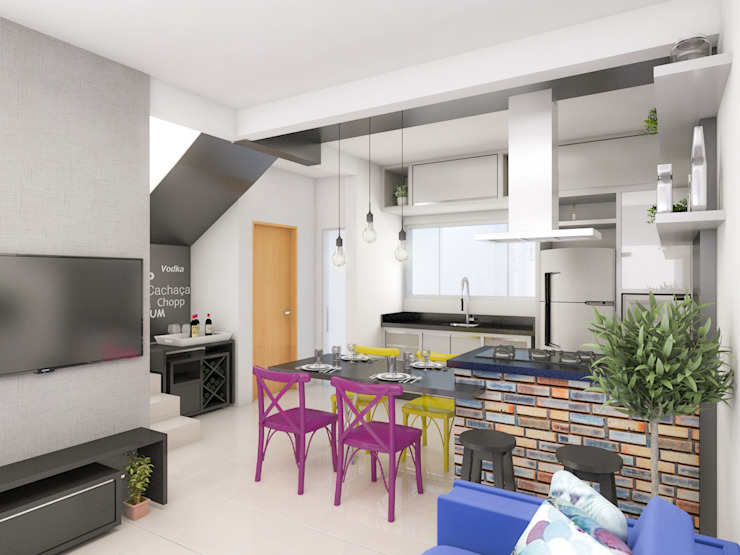Projeto IT AQUITETURA E INTERIORES Modern Dining Room