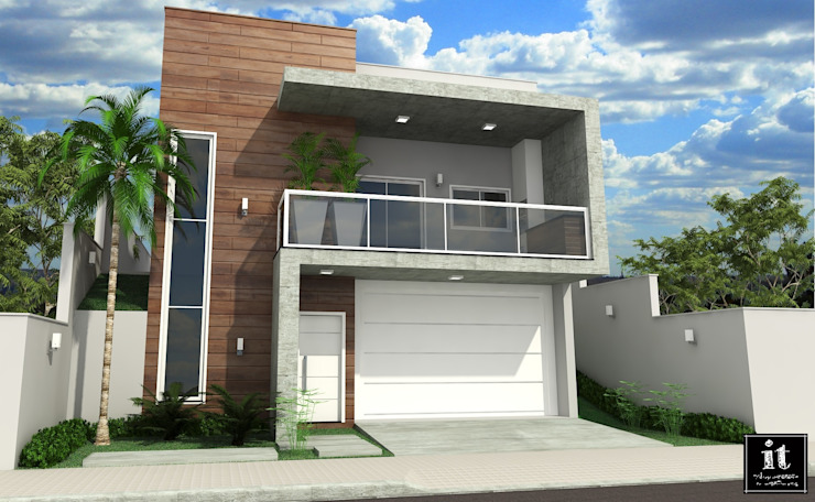 Projeto IT AQUITETURA E INTERIORES Casas estilo moderno: ideas, arquitectura e imágenes