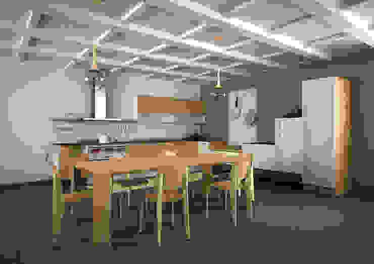 Realizzazioni Ruang Makan Modern Oleh Ragone Falegnameria Modern