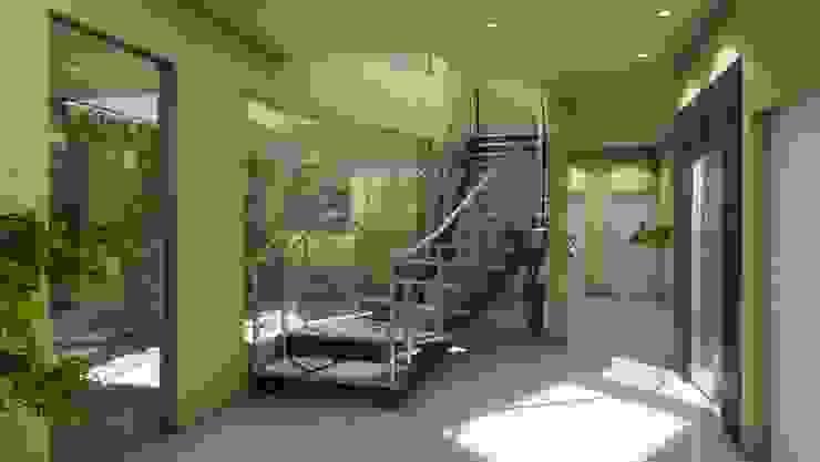 EDIFICO EN ALTURA LA RIOJA Pasillos, vestíbulos y escaleras modernos de b&b marketing y arquitectura Moderno
