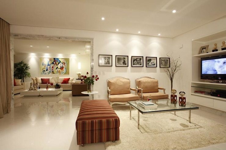 ANUÁRIO DE DECORAÇÃO 2011 Salas de estar modernas por MJ Projetos e Consultoria Ltda Moderno