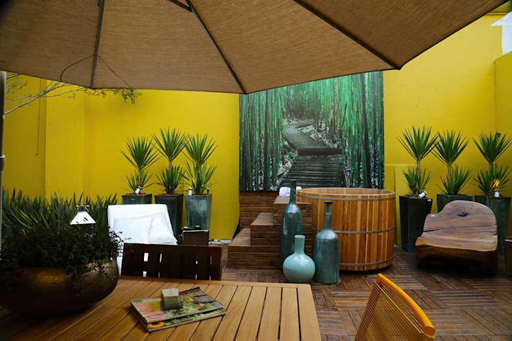 Balcones y terrazas de estilo moderno de Meire Lemes Designer de Interiores Moderno