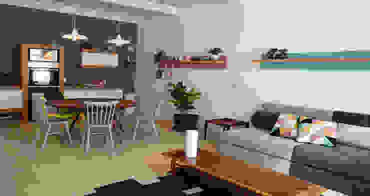 Salas de estilo moderno de Germán Velasco Arquitectos Moderno