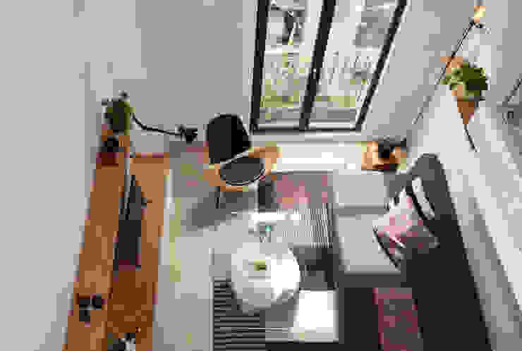 Salones de estilo moderno de Germán Velasco Arquitectos Moderno
