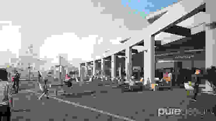 Plaza pesquería Casas modernas de Pure Design Moderno