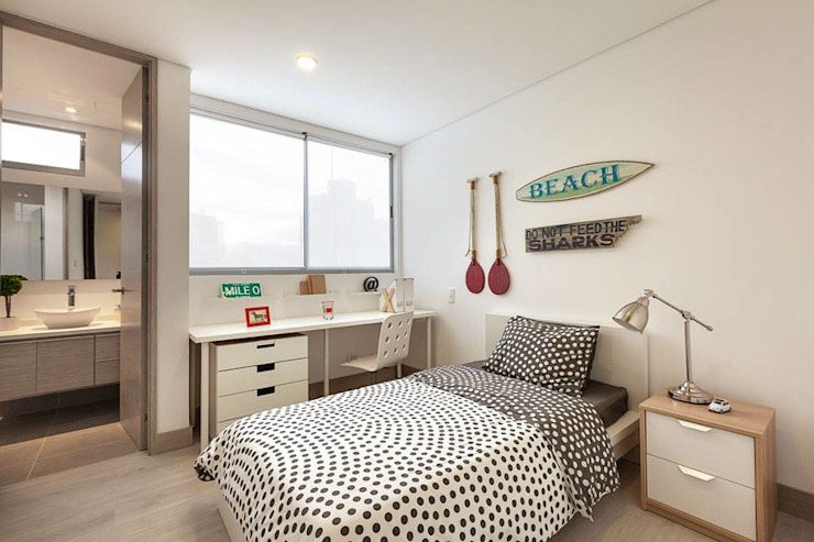 Bedroom by Ambientes Visuales S.A.S, Modern