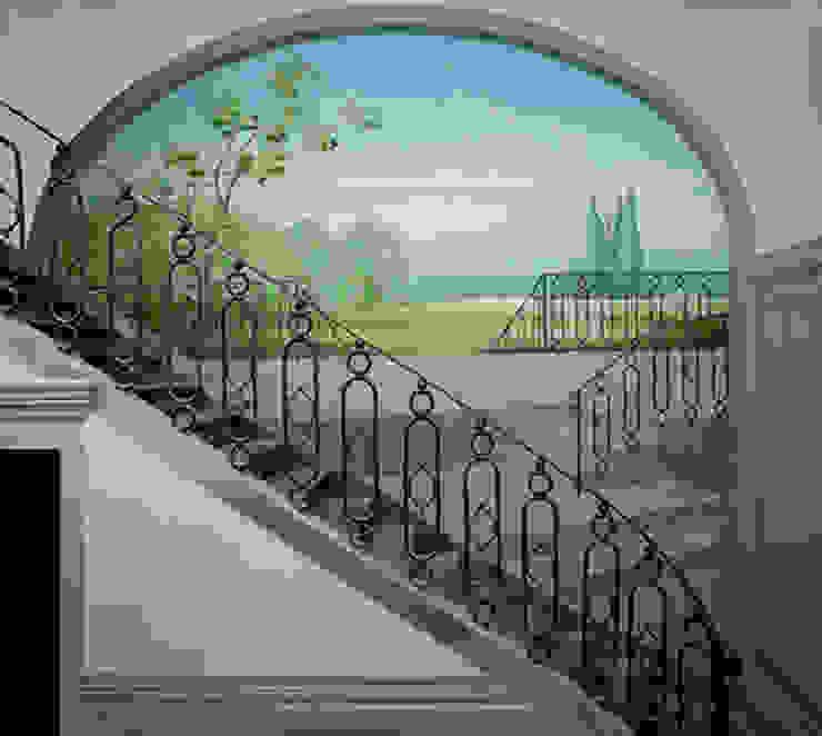 Trompe l'oeil architettonico con paesaggio di Art'n'Art Studio di Claudia Masini