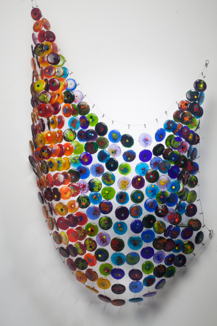 manchas de color de Ana Maria Nava Glass Minimalista Vidrio