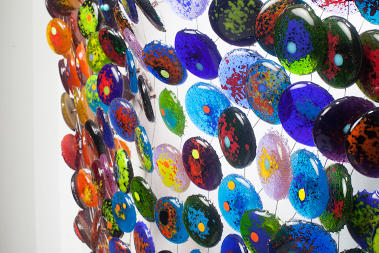 textiles con volúmen de Ana Maria Nava Glass Minimalista Vidrio