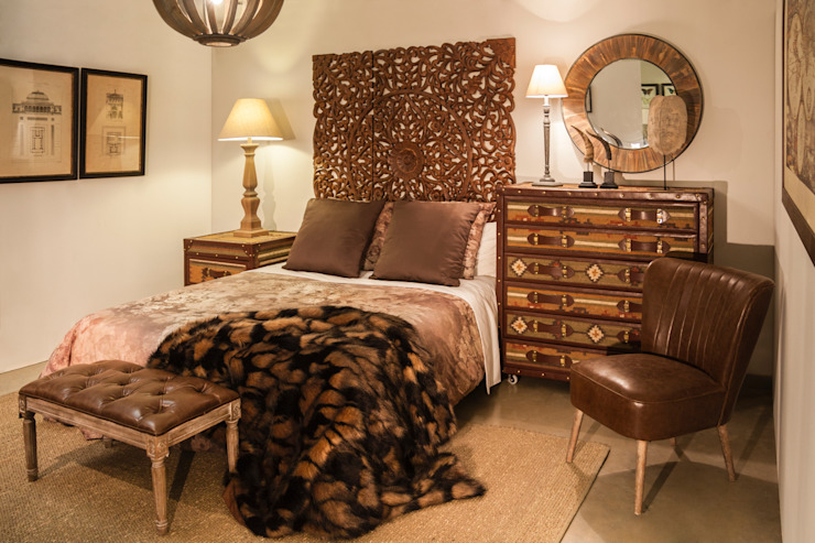 Eclectic style bedroom by DECORSIA HOME,S.L. Eclectic