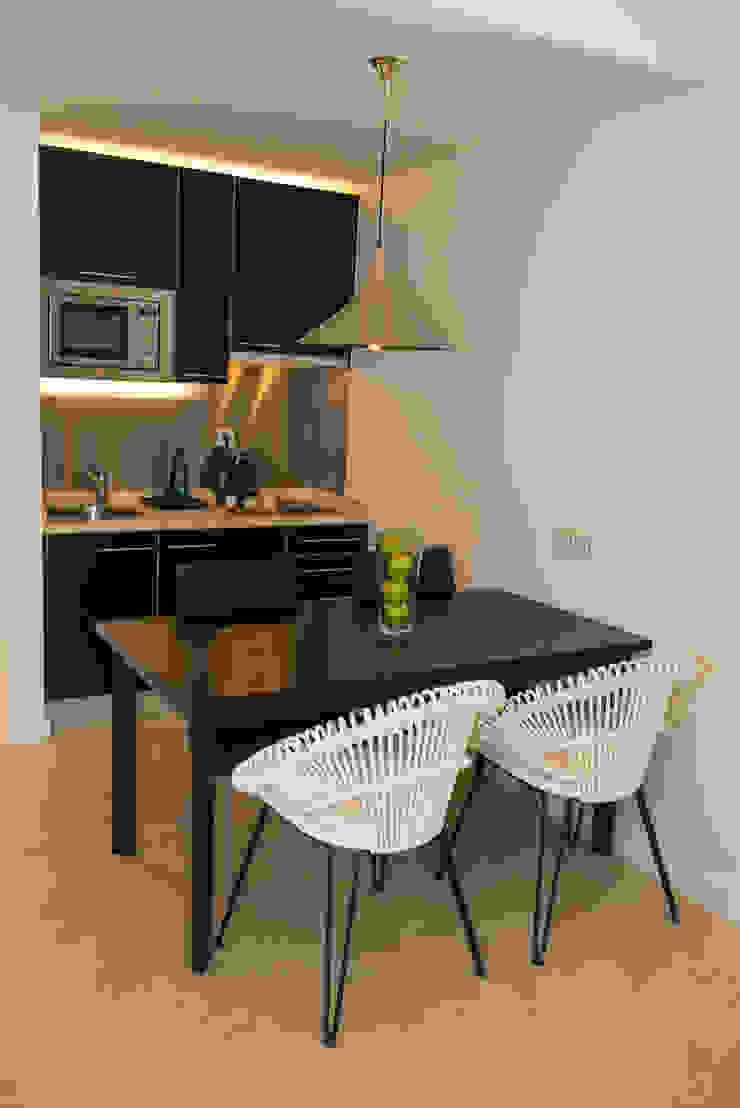 Sala + Cozinha:  industrial por Pureza Magalhães, Arquitectura e Design de Interiores,Industrial