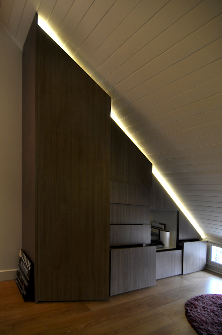 Matealbino arquitectura Modern Study Room and Home Office
