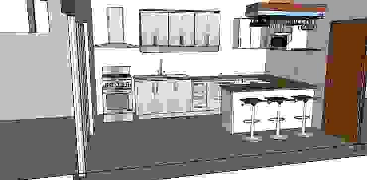 Cocinas de estilo moderno de GM Arquitectura&Construcción Moderno