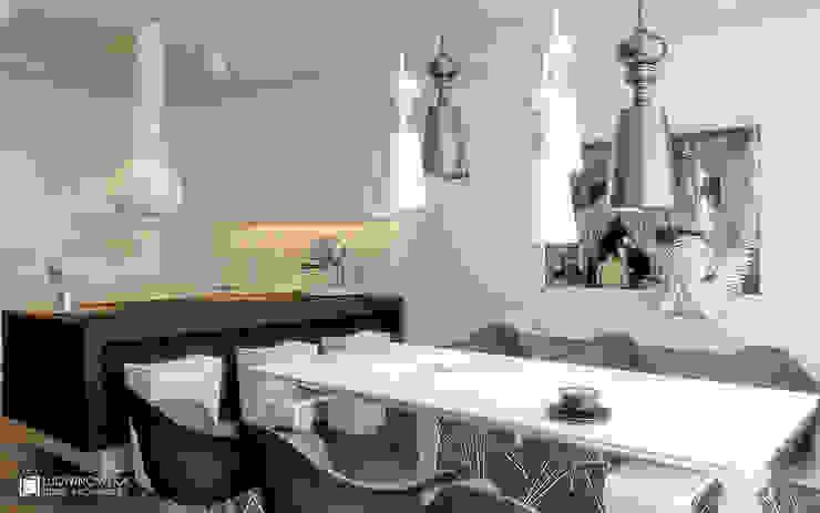 MODERN GLAMOUR: styl , w kategorii Kuchnia zaprojektowany przez Ludwinowska Studio Architektury,Eklektyczny