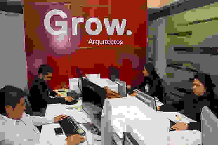 Oficinas Grow Estudios y despachos modernos de Grow Arquitectos Moderno
