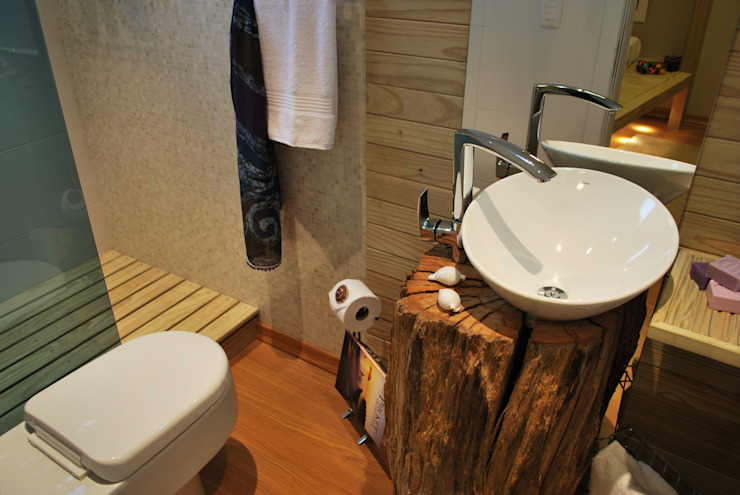ARQ Ana Lore Burliga Miranda BathroomSinks Solid Wood Wood effect