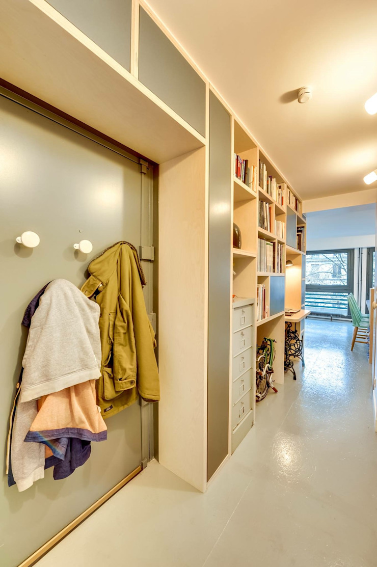 blackStones Scandinavian style corridor, hallway& stairs Plywood Grey