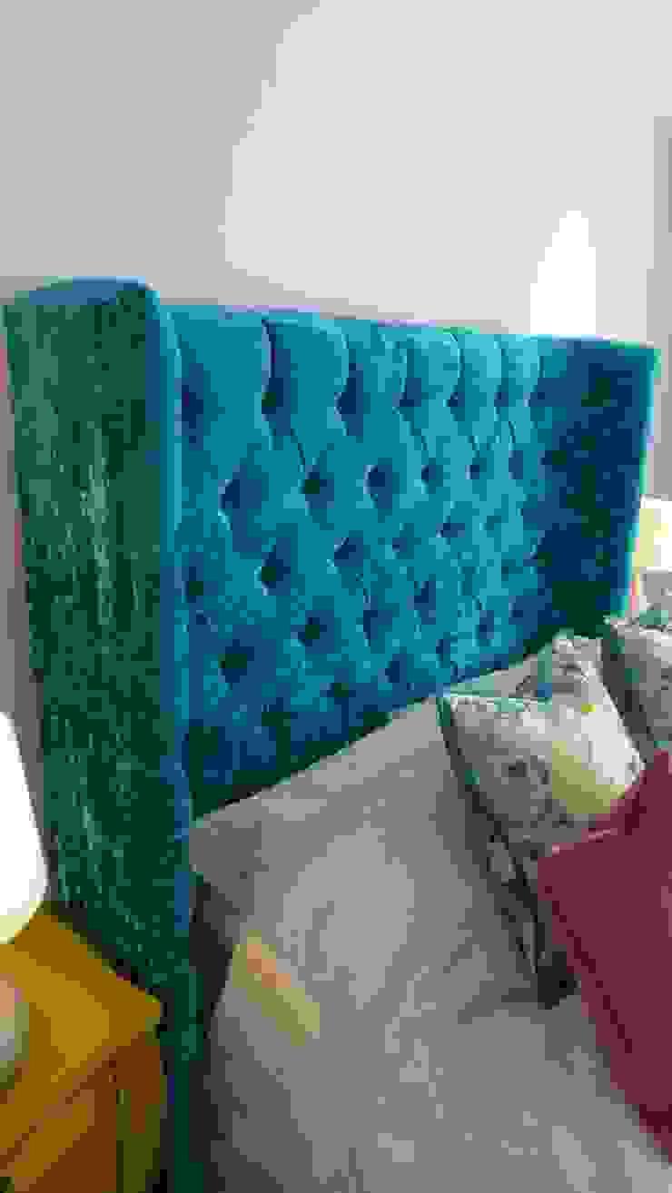 large fabric headboard Style Within Klassische Schlafzimmer Grau