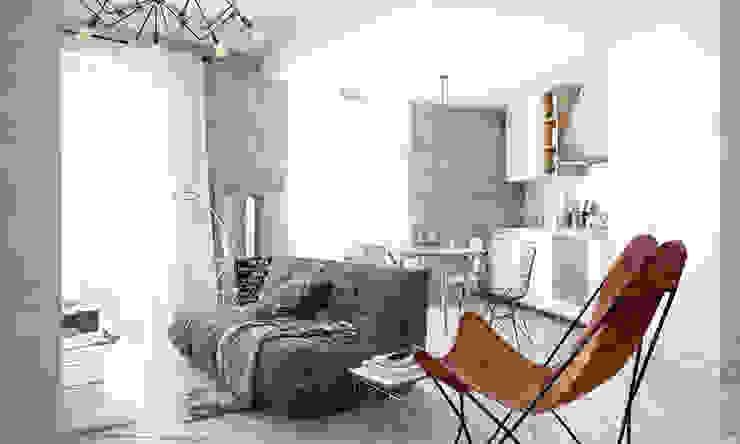 Industrial style living room by арх бюро Edifico Industrial