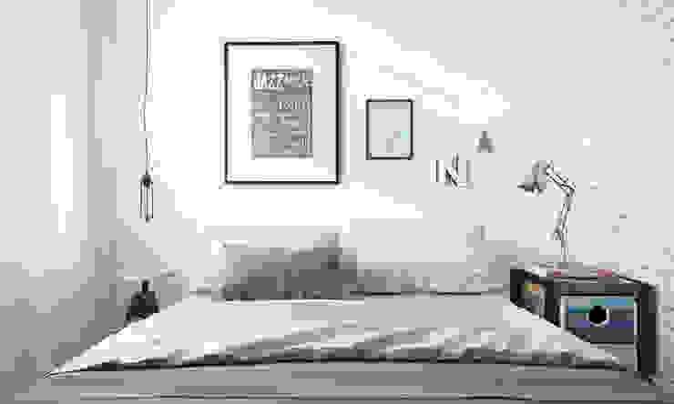 Парижский loft Спальня в стиле лофт от арх бюро Edifico Лофт