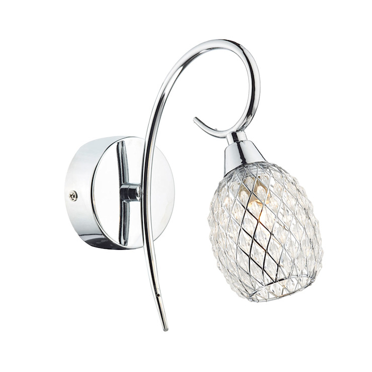 Chrome and Glass Wall Light Socket Store 牆面