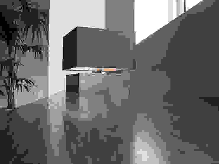 QUADRA suDesign Arredi Ingresso, Corridoio & Scale in stile moderno Ferro / Acciaio