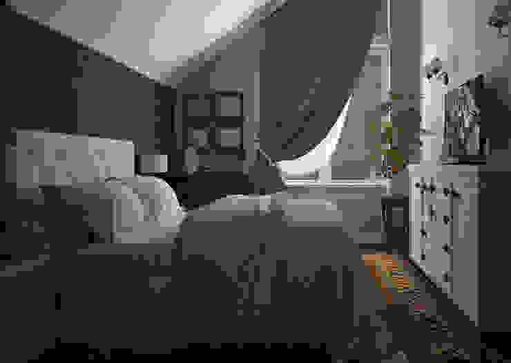 Dormitorios eclécticos de Альбина Романова Ecléctico