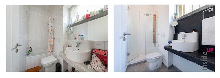 Bathroom تنفيذ homify,