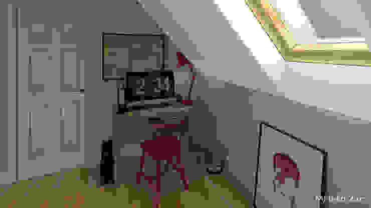 Un studio sous les toits Bureau moderne par MJ Intérieurs Moderne