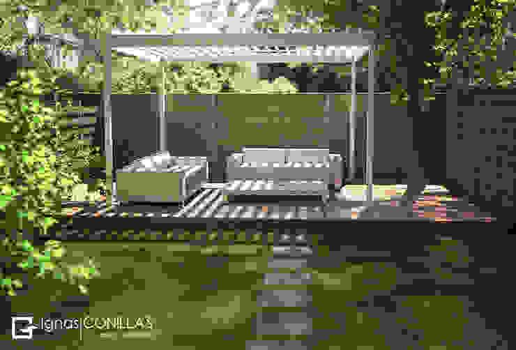 Pérgola bioclimática Azore Jardines de estilo moderno de homify Moderno Aluminio/Cinc