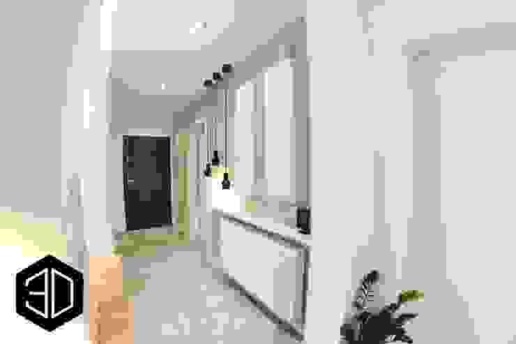 Couloir, entrée, escaliers scandinaves par 3D STUDIO Scandinave