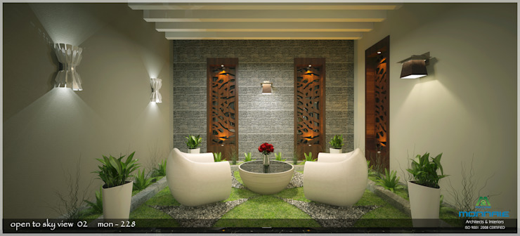 Contemporary Interior Design Premdas Krishna Modern balcony, veranda & terrace