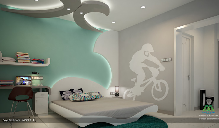 Boy's Bedroom Modern style bedroom by Premdas Krishna Modern