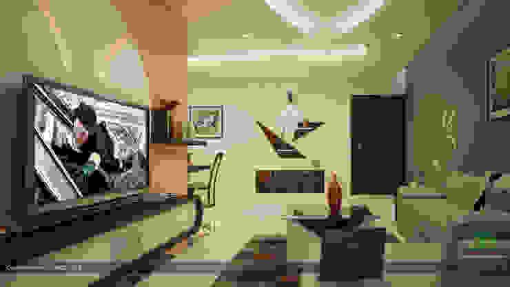 Salas de estar modernas por Premdas Krishna Moderno