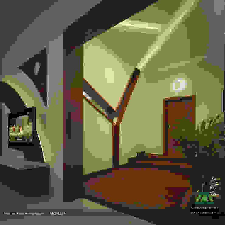 Home Theatre Corridor Premdas Krishna Modern corridor, hallway & stairs