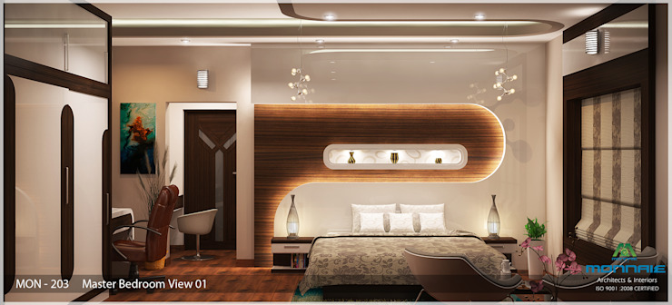 Indian Contemporary Design Modern style bedroom by Premdas Krishna Modern