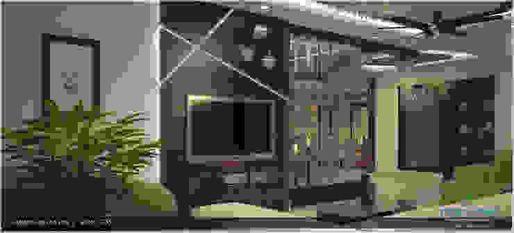 Modish Modern Contemporary... Modern living room by Premdas Krishna Modern
