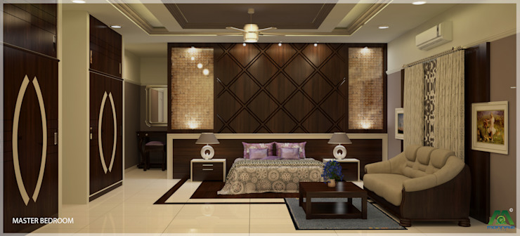 Magic in interiors with Indian contemporary design Modern style bedroom by Premdas Krishna Modern